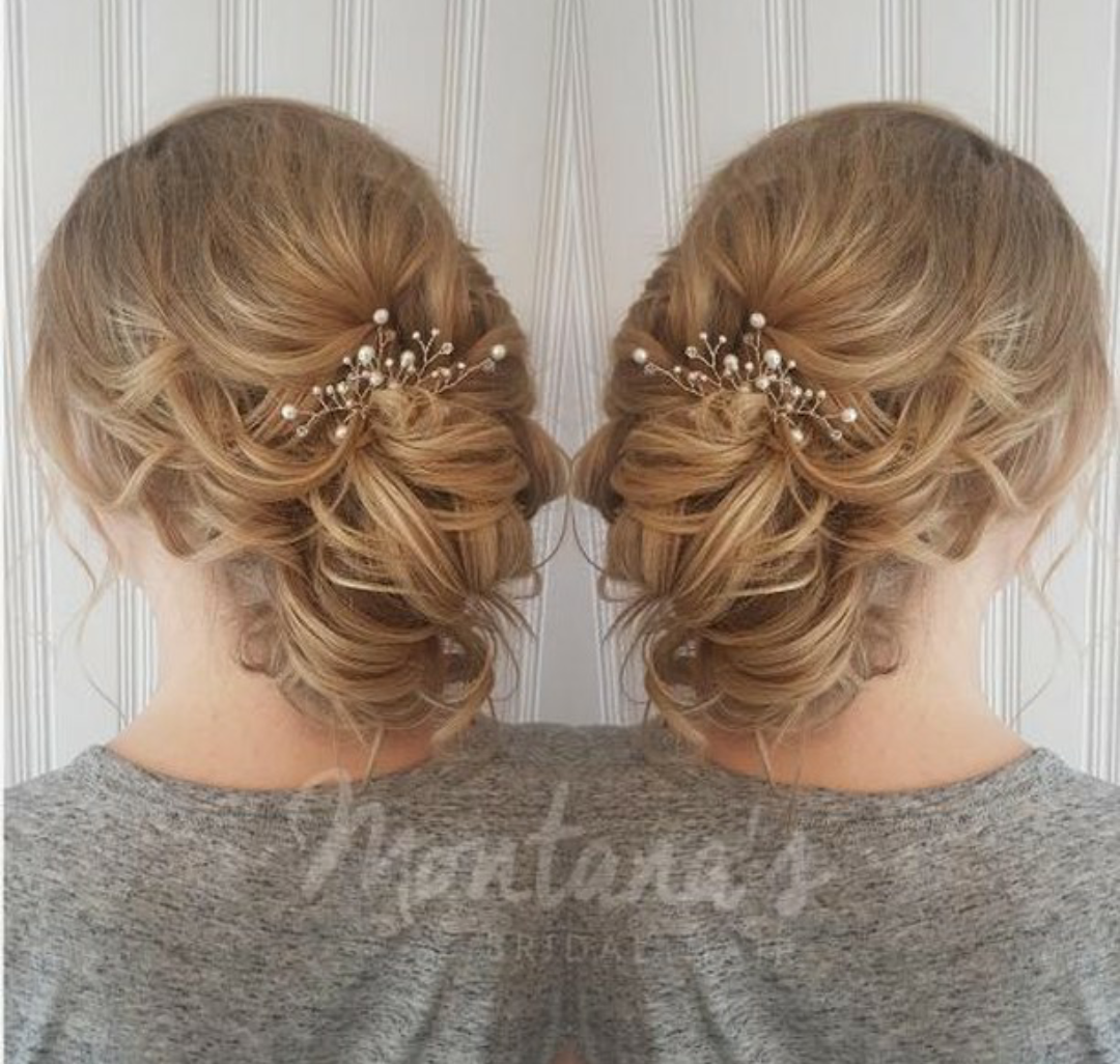 white hair pins updo inspiration