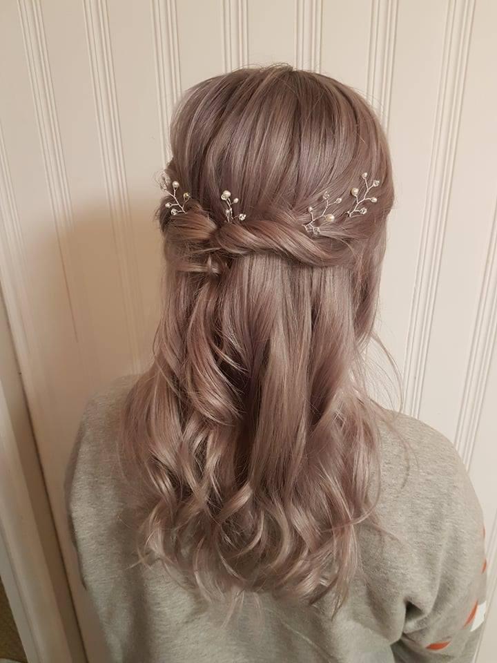 hair vine pearl and crystal hair pins