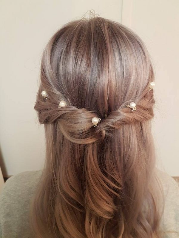 set of 5 pearl wedding hair pins west coast jewelry vancouver