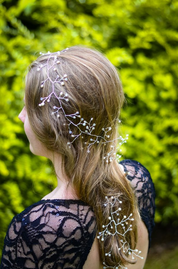 long bridal hair vine west coast jewelry vancouver