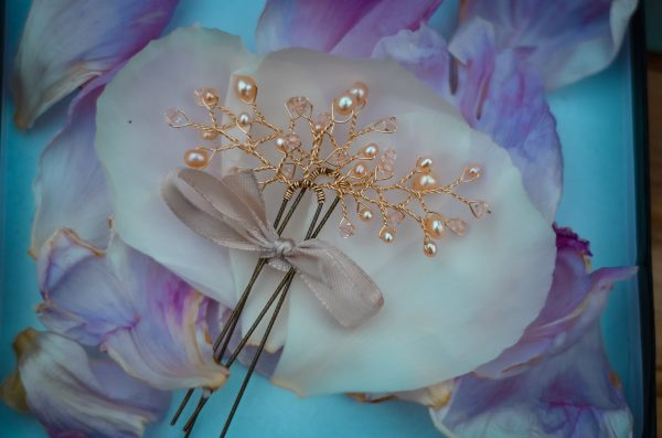 rose gold wedding hair pin west coast jewelry vancouver