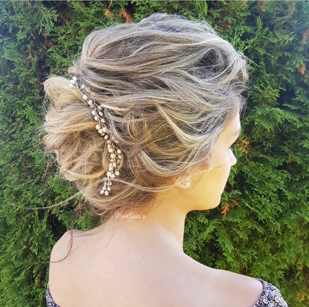 wedding hair vine silver west coast jewelry vancouver