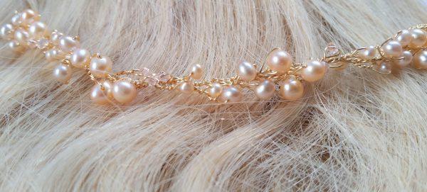 rose gold thin hair vine