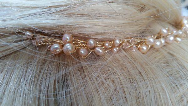 rose gold tiara hair piece