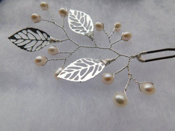 pearl rustic hair pins