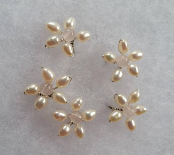 set of 5 flower hair pieces